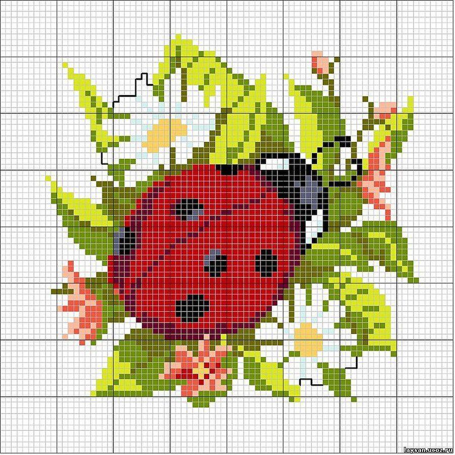 схема для вышивки крестиком роза в росе